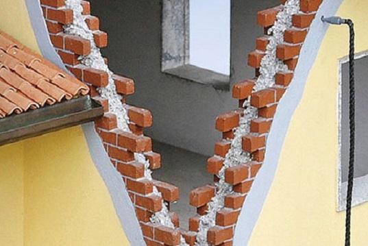 Insufflaggio intercapedini pareti e muri