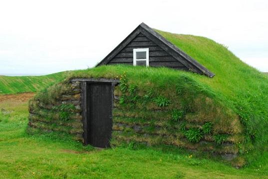 Case con tetto in erba